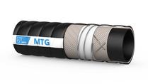 MTG Granofood/CLC/4 transportslang voor druk- en vacuümapplicaties, voor poeders en korrels onder zware omstandigheden; hoge slijtvastheid; rubberen slang; geschikt voor temperaturen van -35 °C tot +100 °C. Sterilisatie is mogelijk tot +130 °C; slijtvaste polyurethaan binnenvoeringvoering