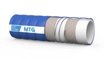 MTG Imperia/CLC/10 transport-, laad- en losslang voor zuivel, eetbare oliën en andere vette vloeibare voedingsmiddelen; geschikt voor het transporteren van melk; zeer flexibel; temperatuurrange van -20 ºC tot +90 ºC. Barstdruk is 30 bar