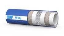 MTG Steam/TXI reinigingsslang geschikt voor verzadigde stoom en heet water; De MTG Steam/TXI is een rubber slang van voedingskwaliteit, speciaal ontworpen voor reinigingswerkzaamheden met verzadigde stoom tot +164 °C en wasservices voor heet water.