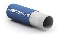 Tubluestream reinigingsslang Tudertechnica;  door synthetische tussenlagen zeer geschikt voor de drukken die stoom op temperatuur krijgen